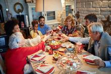 Family Having Christmas Dinner...