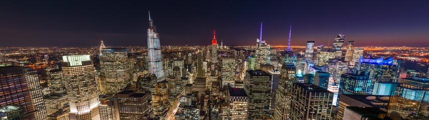 New York City night skyline buildings