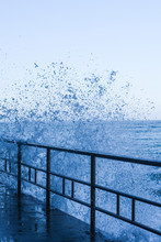 Wave Splash In The Seafront