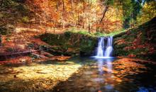 Beautiful Waterfall At The Mou...