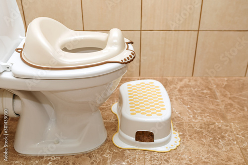 Lid for toilet seat for children Canvas Print