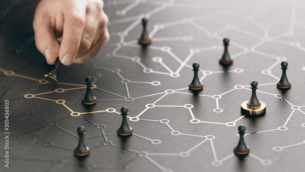 Fototapeta The Way To Success Or Career Guidance.