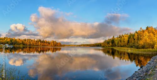 Kajosaari island, lake Ladoga, Karelia, Russia. Fototapet