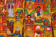 Leinwanddruck Bild - Traditional Ethiopian artwork for sale near Lake Tana in Ethiopia