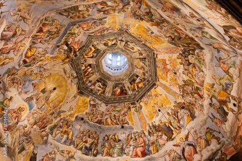 Fototapeta Affreschi della cupola del Brunelleschi