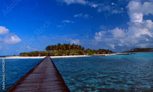 Maledives: The beach of Digufinolhu / Veligandu Hura in the Indian Ocean Fototapet