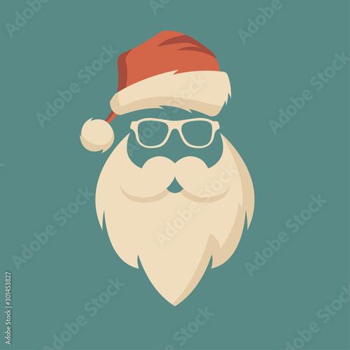 Cuadros en Lienzo Christmas santa flyer, brochure, poster. Hipster style.