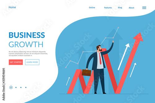 Vector web page design template Canvas Print