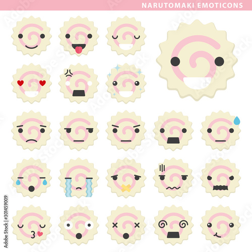 narutomaki emoticons Canvas Print