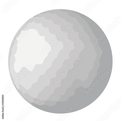 Valokuva  Golf ball isolated vector illustration isolated