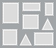 Postage Stamp Set. Vector Illu...