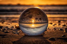 Sunset In Crystal Ball