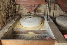Millstones Grinding Grain