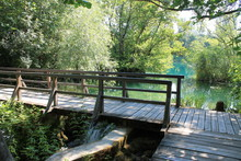 Wooden Footbridge In The Natur...