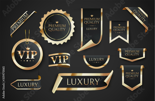 Photo Premium quality vector badges or tag