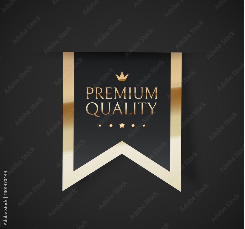 Fototapeta Premium quality vector badges. Luxury black labels. Vector illustration