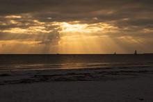 Sailboats On The Horizon As Th...