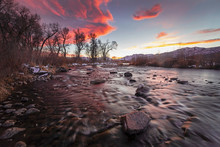 Vivid Sunset At The Provo Rive...