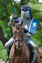 A Mounted Knight In Shining Ar...