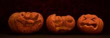 Calabazas De Halloween Con Exp...