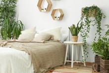 Stylish Interior Of Bedroom Wi...