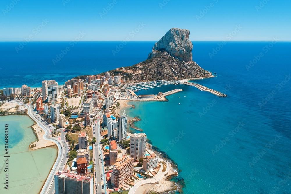 Fototapety, obrazy: Aerial view of Calpe