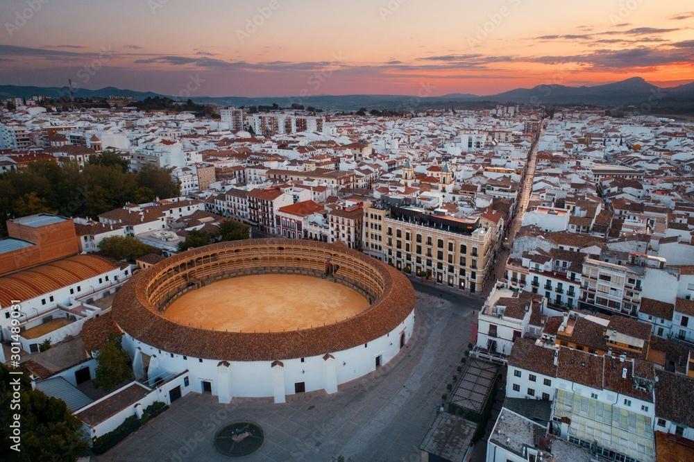 Fototapeta Plaza de Toros de Ronda aerial view