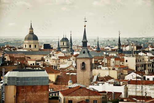 Fotomural  Madrid rooftop view tower