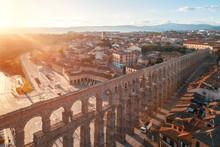 Segovia Roman Aqueduct Aerial ...