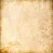 Leinwanddruck Bild - Beige grunge background, paper texture, vintage, spots, grungy, blank