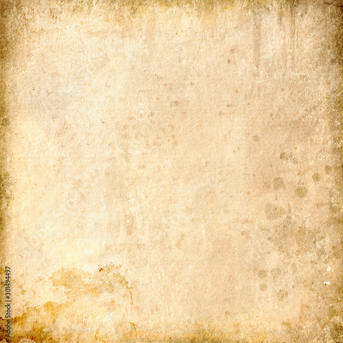 Fotomural  Beige grunge background, paper texture, vintage, spots, grungy, blank
