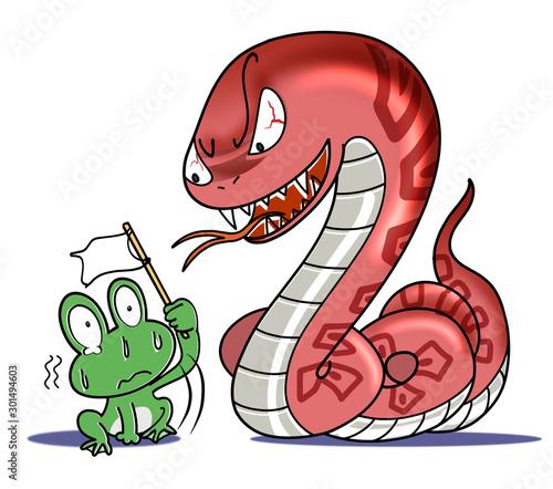 蛇に睨まれた蛙 Wallpaper Mural