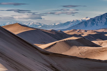Great Sand Dunes Casting Shadows In Colorado