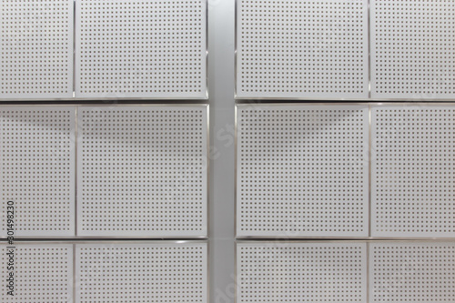 Soundproof walls of the meeting room. Canvas Print