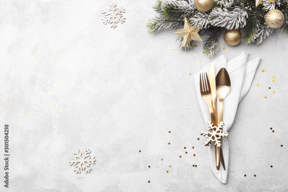 Fototapety, obrazy: Christmas or new year table setting