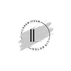 Fototapeta na wymiar Initial letter IL beauty fashion, make up logo