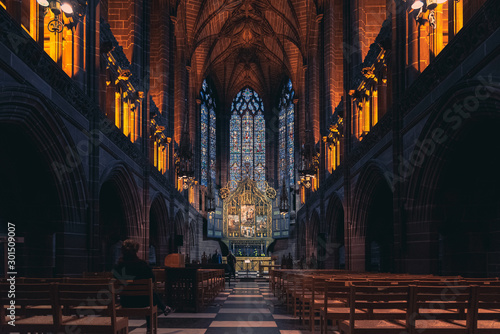 Obraz na plátně  LIVERPOOL, ENGLAND, DECEMBER 27, 2018: The Lady Chapel in Liverpool Anglican Cathedral