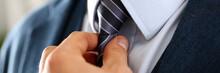 Male Arm In Blue Suit Set Tie ...