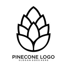 Pinecone Concept 2 Colored Icon. Simple Blue Element Illustration. Pinecone Concept Symbol Design From Autumn Set.