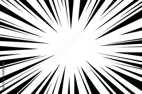 empty comic style zoom lines isolated with clipping path on background