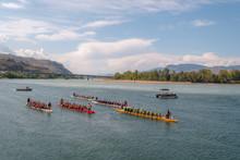 Dragon Boat Paddling Group Rac...