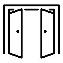 Double Door Open Outside Icon....