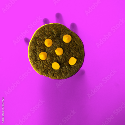 canvas print motiv - heinteh : Cookies or Chocolate chips cookies with hand concept new.