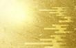 canvas print picture - 雲のパターンと金色の和紙の背景(アブストラクト)