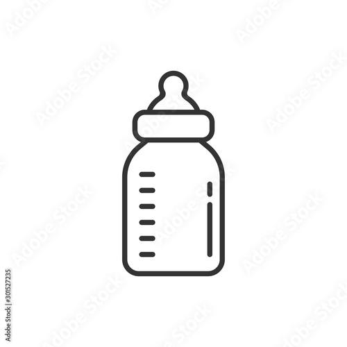 Fotografía Baby bottle icon in flat style