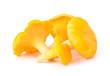 Leinwandbild Motiv Yellow Chanterelle Isolated on White Background Close-Up