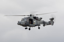 Lynx Army Helicopter Flying Wi...