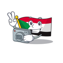Flag Sudan Character In Cartoo...