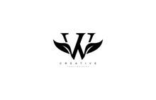 W Letter Luxury Flourishes Ornate Logotype