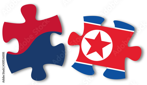 Obraz na plátně Unificazione unification korea